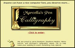 Marcella's Pen Calligraphy Screen Shot-Unlinked