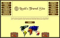 Luuk's Travel Site Screen Shot-Opens in a new window.